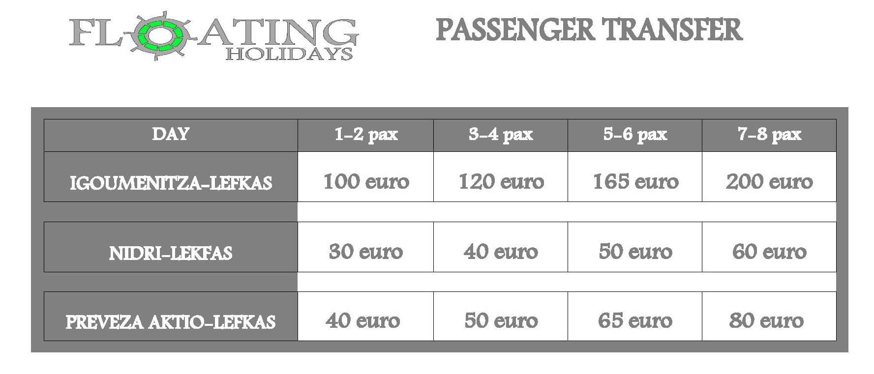 Shuttle to and from ports / airports